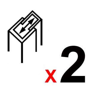 2 Perfiles de extensión de 4 cm (total 8 cm.)