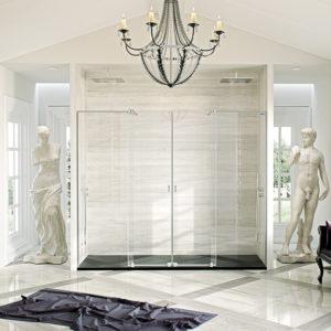 Mampara de ducha Duscholux Pulsar de 2 fijos + 2 puertas