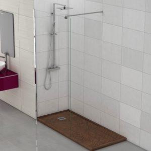 Fijo de ducha de cristal en oferta para platos de ducha