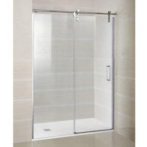 Mampara de ducha GME Moving de acero inoxidable de una puerta corredera