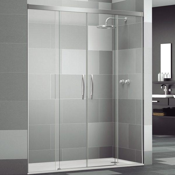 Mampara de ducha corredera cristal transparente