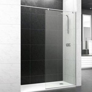 mampara fija de ducha con perfil superior