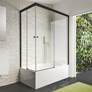 Mampara de bañera Duscholux Gravity One Angular de 2 fijos + 2 puertas corredera