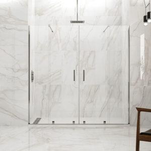 Mampara de ducha GME Vitro Spazio corredera de aluminio