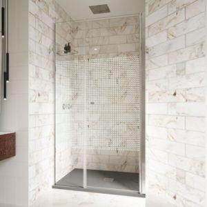Mampara de ducha de 1 puerta abatible con fijo