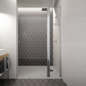 Mampara de ducha de 1 puerta abatible