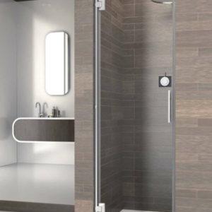 mampara de ducha de puerta con bisagras de acero inoxidable