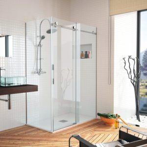 Mampara de ducha de alta calidad de acero inoxidable y cristal de seguridad