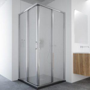 mamparas para ducha correderas con entrada por la esquina