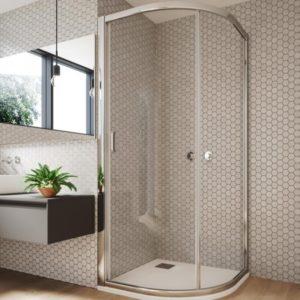 mampara de ducha circular con 1 puerta corredera