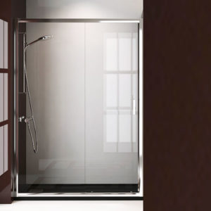 mampara de ducha corredera de 1 puerta de cristal