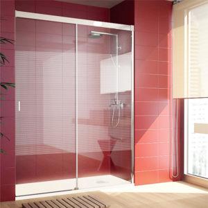 Mampara de ducha corredera con dibujo