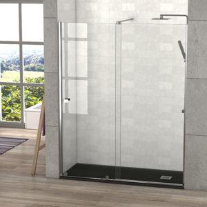 mampara de ducha corredera sin guia superior