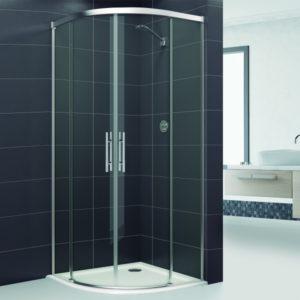 Mampara de ducha de puertas correderas para platos de ducha de rincon