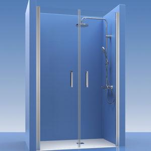 2 Puertas de ducha abatibles