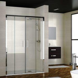 mampara de ducha corredera de 2 puertas correderas