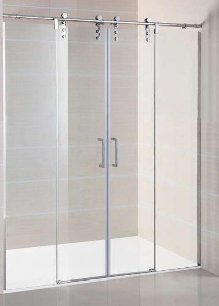 Mampara de ducha GME Moving Spazio corredera de acero inoxidable y cristal transparente