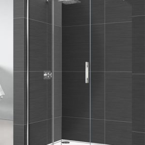 Mampara de ducha corredera tipo walk in cristal