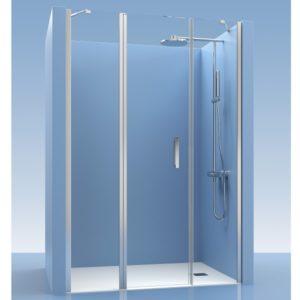 Puerta de ducha con fijos de cristal