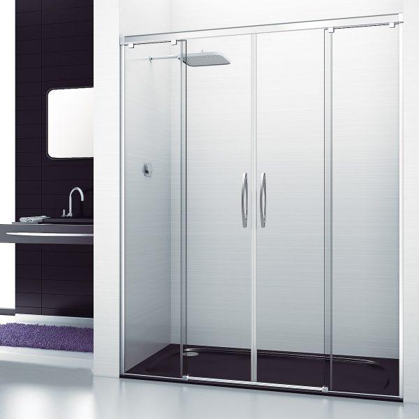 Mampara de ducha en nicho corredera con tratamiento antical gratuito