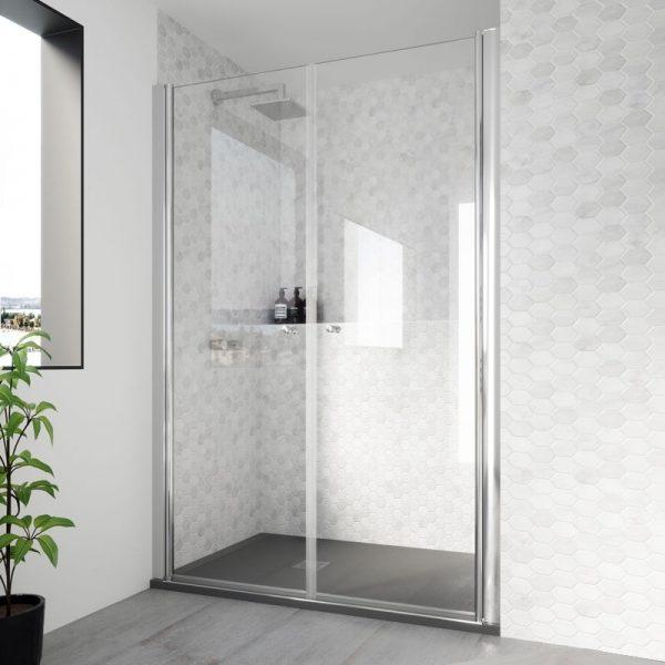 mamparas de ducha 2 puertas batientes