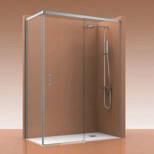 mamparas de ducha correderas con lateral fijo en oferta