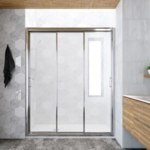 mampara de plato de ducha 3 puertas correderas
