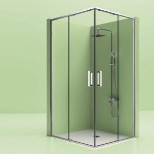 mamparas de ducha con marco inferior correderas en oferta