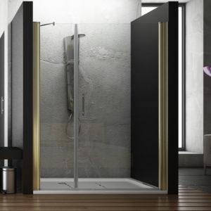 mampara de ducha 1 puerta abatible con fijo