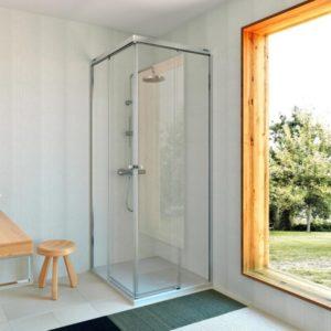 Mampara de ducha Duscholux Gravity one de esquina de 2 fijos + 2 puertas correderas en oferta