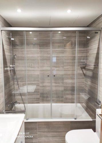 Mampara de bañera de puertas correderas DUSCHOLUX GRAVITY ONE Bañera 2 Fijos / 2 Correderas photo review