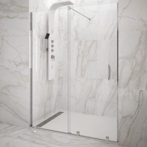 Mampara de ducha GME Vitro corredera de aluminio