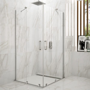 Mampara de ducha GME Vitro Angular corredera de aluminio