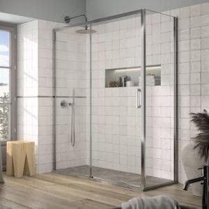 Mampara de ducha Yoko YK607+YK602 en oferta