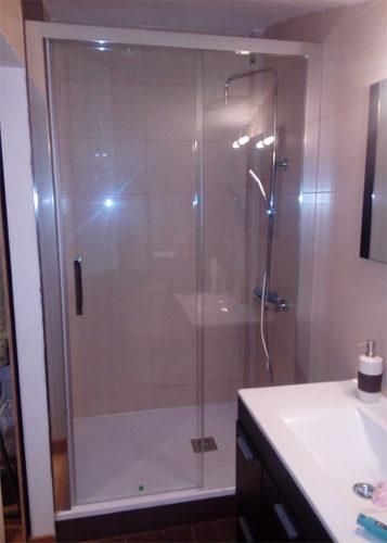 Mampara de ducha de 1 puerta corredera y 1 Fijo KASSANDRA 400 CU 607+CU 602 photo review