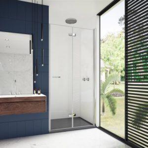 mampara de ducha plegable 2 puertas con bisagras