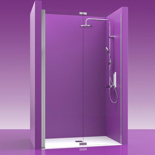 mampara de ducha plegable 2 puertas con bisagras acero inoxidable
