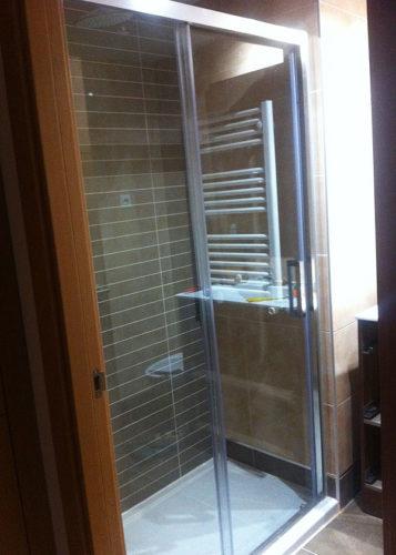 Mampara de ducha de 1 puerta corredera y 1 Fijo KASSANDRA 300 TR 102 photo review