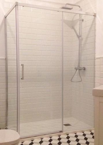 Mampara de ducha de 1 puerta corredera y 1 Fijo CT/FDC620 photo review