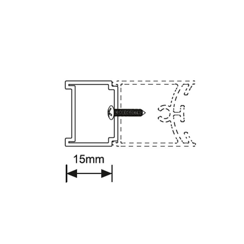 Perfil extensión 1,5 cm.