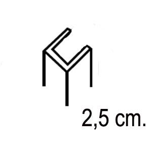 Perfil de compensación 2,5 cm para grandes desniveles