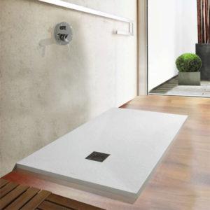 Plato de ducha Centuria Piedra urgente en resinas de stock