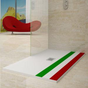 Plato de ducha con bandera