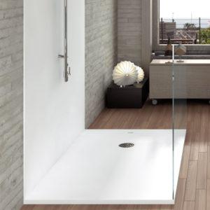 Plato de ducha de resinas Centuria Liso color Blanco