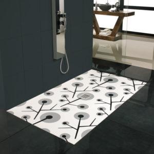 Plato de ducha Palmeras en color hecho a medida