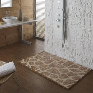 Plato de ducha de resinas con aspecto rustico