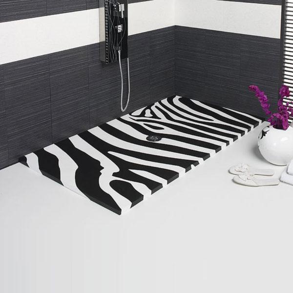 Plato de ducha cebra