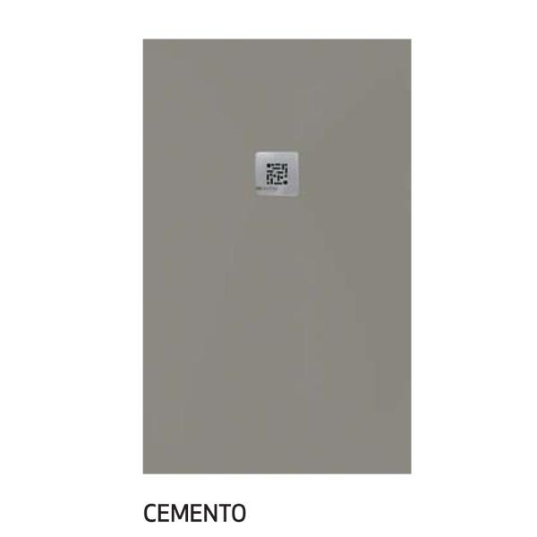 plato ducha color cemento