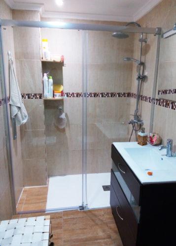 Plato de ducha de resina con marco BORDER Pizarra photo review
