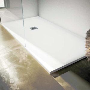 Plato de ducha resina con acabado liso